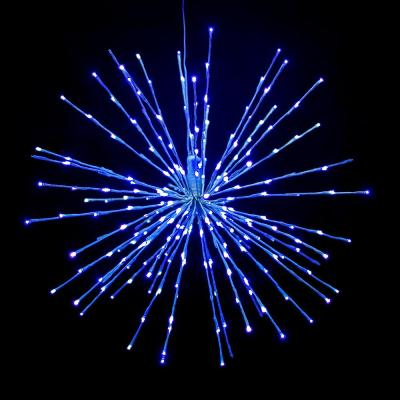 24 in. Blue LED Christmas Spritzer