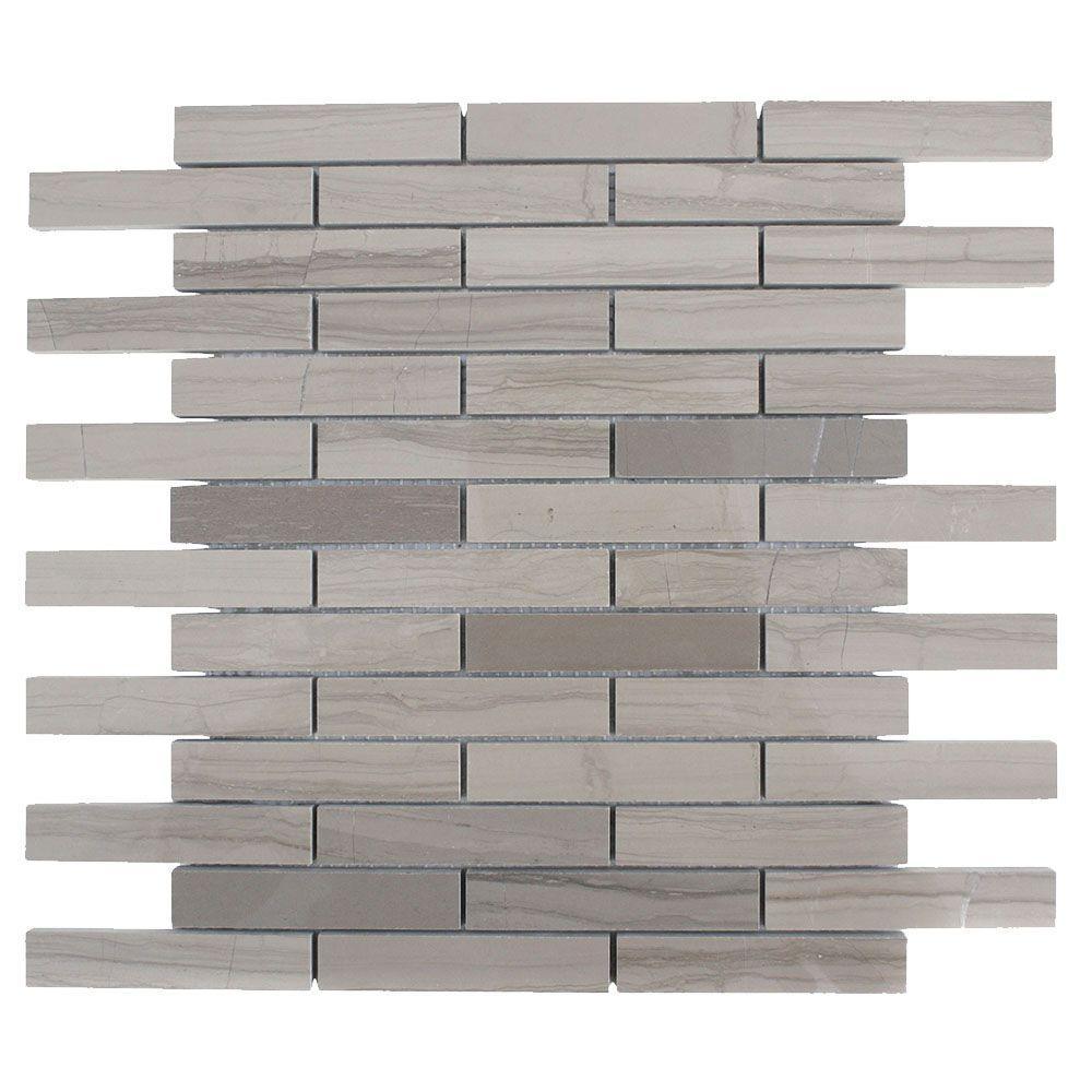 Splashback Tile Athens Grey 12 in. x 12 in. x 8 mm Polished Marble ...