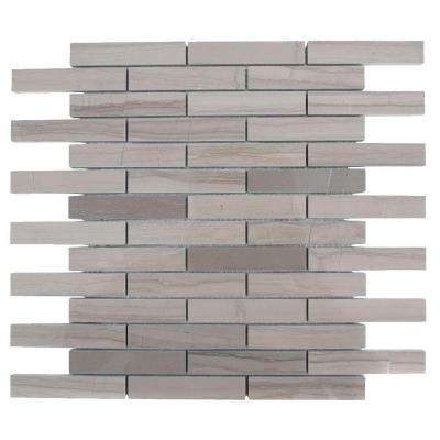 Athens Grey 12 in. x 12 in. x 8 mm Polished Marble Floor and Wall Tile