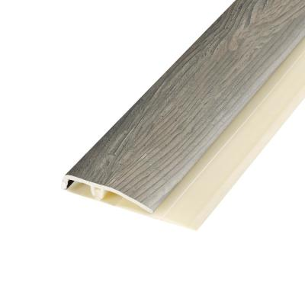 Henlopen Grey Oak 0.28 in. Thick x 1.7 in. Wide x 78.7 in. Length Vinyl End Molding