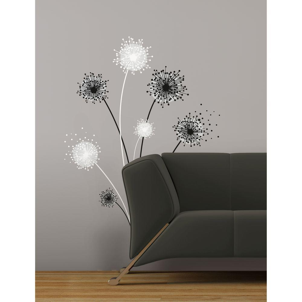 RoomMates Graphic Dandelion Peel and Stick Giant Wall Decal