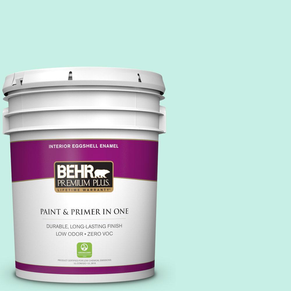 BEHR Premium Plus 5-gal. #P430-1 Summer House Eggshell Enamel Interior Paint
