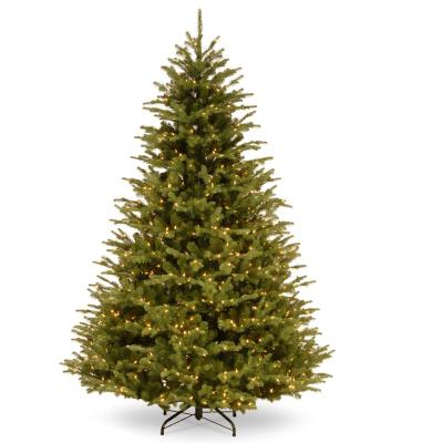 7.5 ft. PowerConnect Ridgedale Fir with Warm White LED Lights