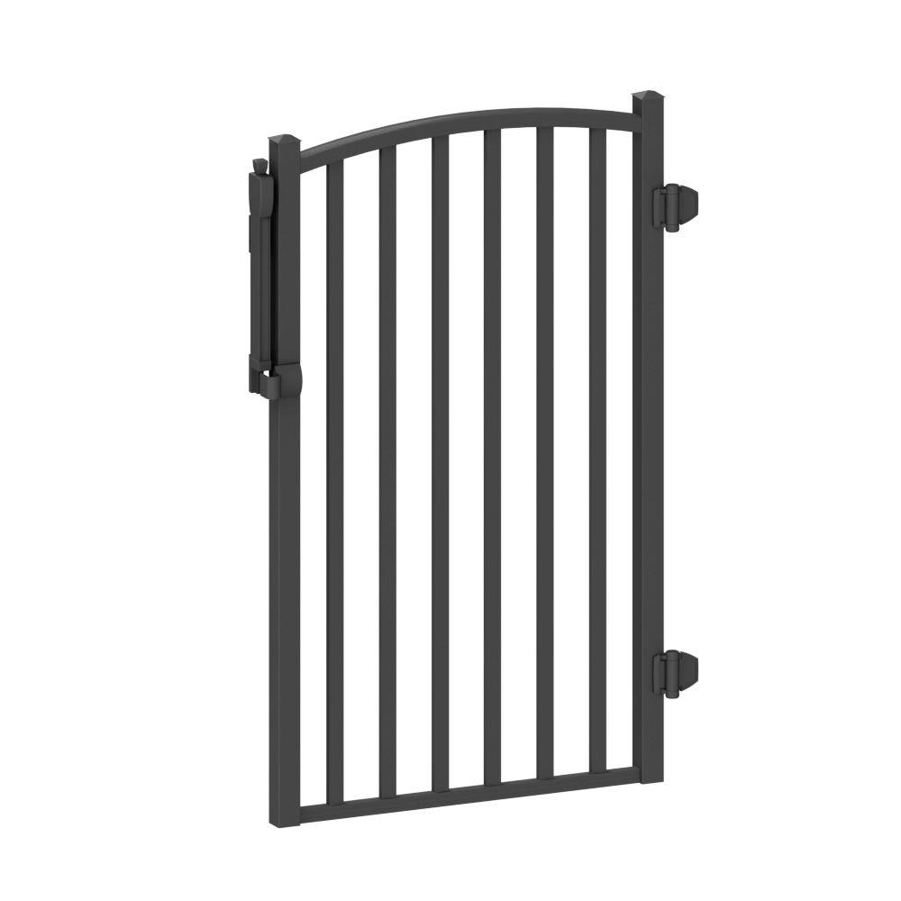 AquatinePLUS 3 ft. x 4 ft. Black Aluminum Fence Pool Gate