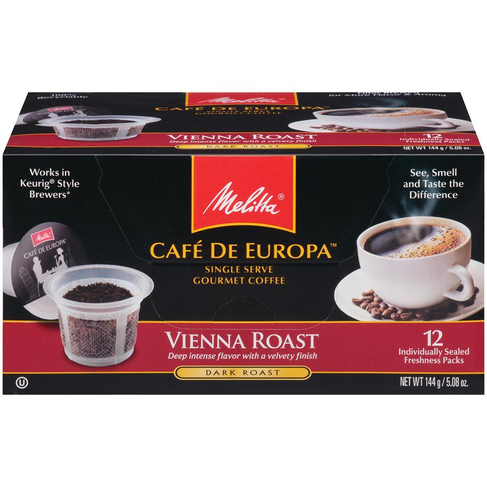 Cafe de Europa Vienna 72 count Single Serve Coffee Capsule