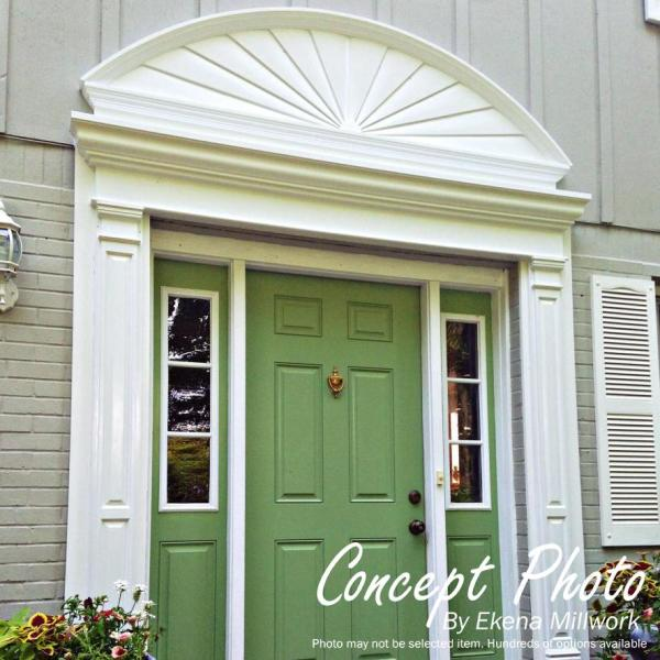 Ekena Millwork 61 In X 7 8 In X 20 In Peaked Urn Pediment Ped61x20x00up The Home Depot
