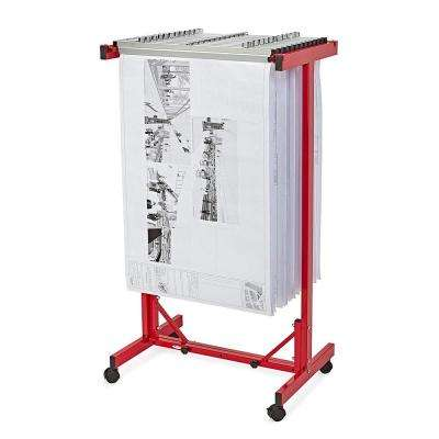 Expandable Blueprint Mobile Plan Center, Red