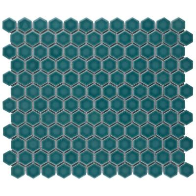 Tribeca 1 in. Hex Jade 10-1/4 in. x 11-7/8 in. Porcelain Mosaic Tile (8.65 sq. ft./Case)
