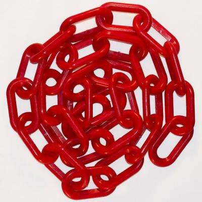 2 in. x 100 ft. Red Plastic Chain