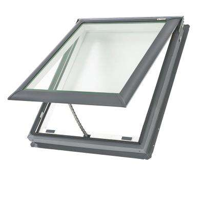 21 in. x 26-7/8 in. Fresh Air Venting Deck-Mount Skylight with Tempered Low-E3 Glass