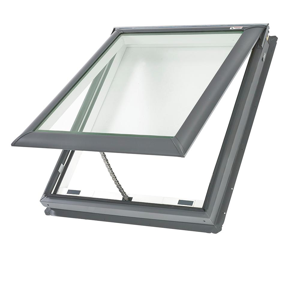 VELUX 30-1/16 in. x 30 in. Fresh Air Venting Deck-Mount Skylight ...