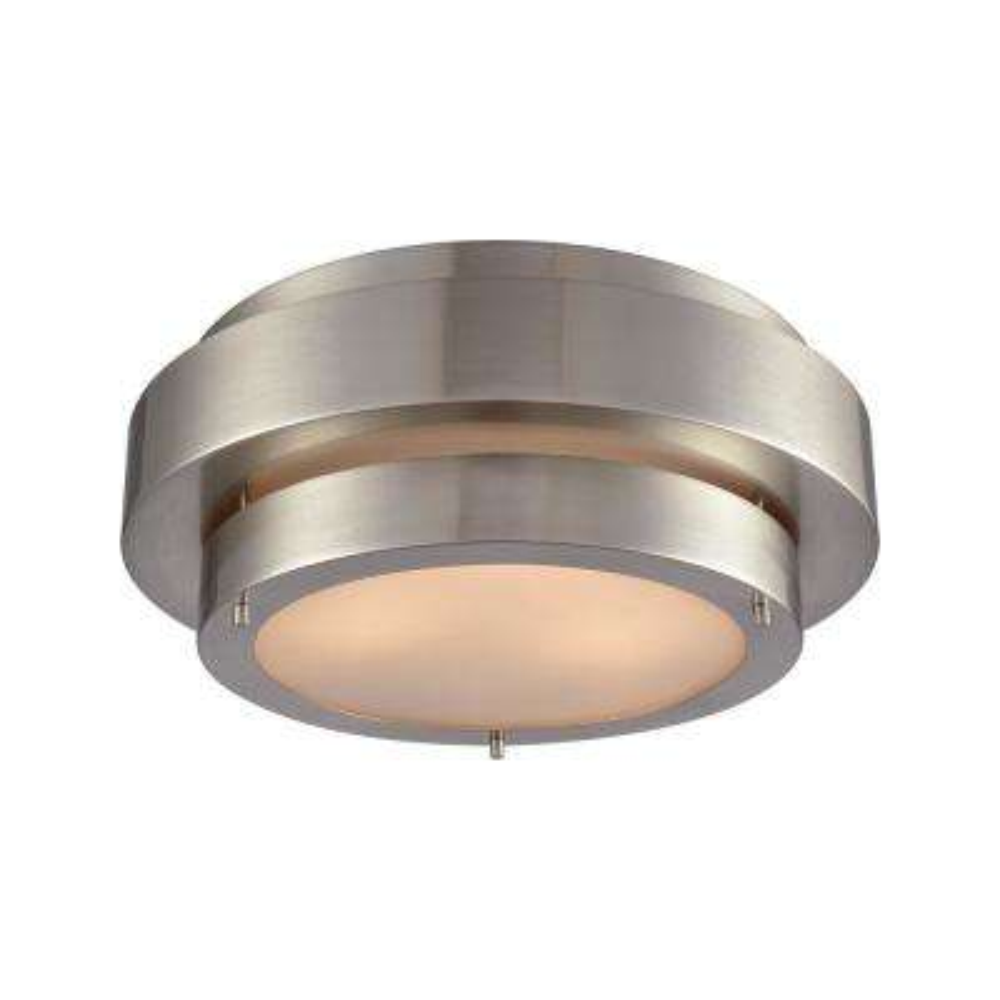 Layers 3-Light Satin Nickel Flushmount