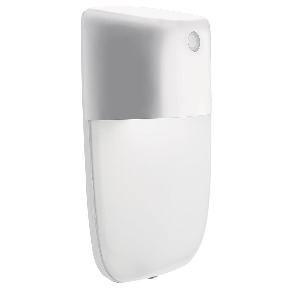 Lithonia Lighting OVWP White Outdoor Integrated LED Wall Pack Light with Dusk to Dawn Photocell