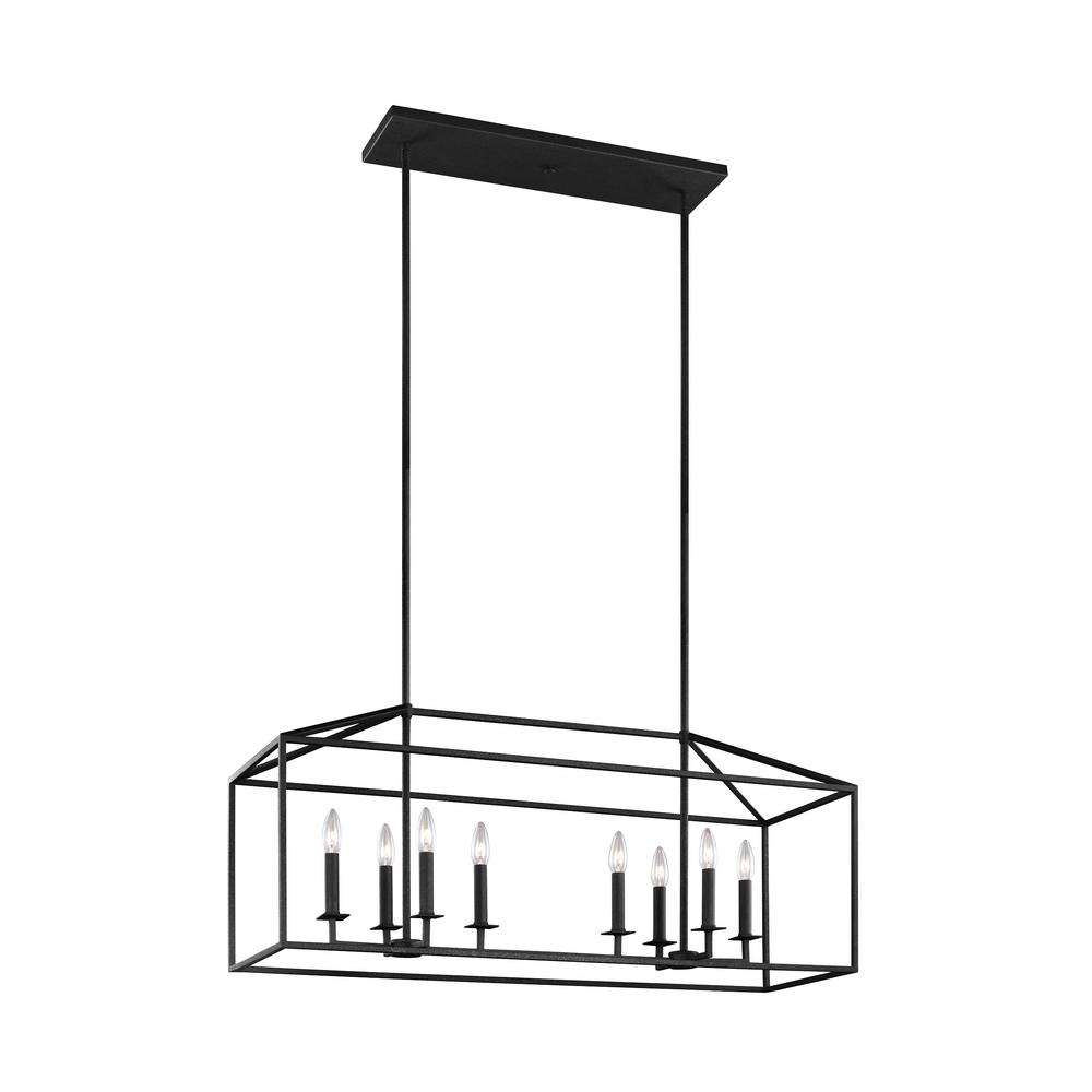 Sea Gull Lighting Perryton 8-Light Textured Blacksmith Lantern Pendant with Dimmable Candelabra LED Bulb was $586.9 now $359.97 (39.0% off)
