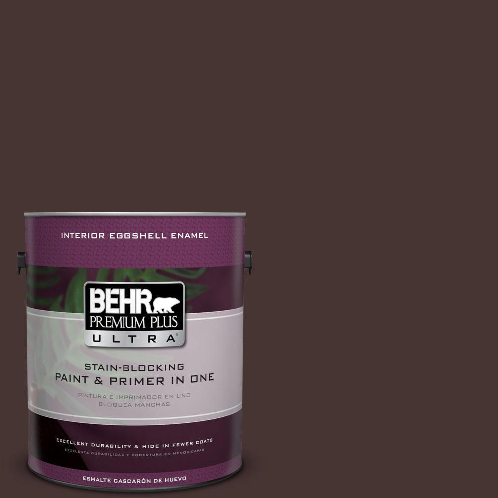 BEHR Premium Plus Ultra 1-gal. #ECC-43-3 Chaparral Eggshell Enamel Interior Paint