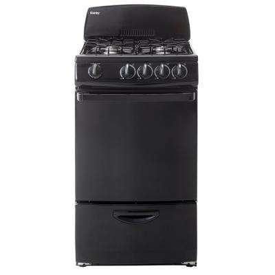 20 in. 2.4 cu. ft. Gas Range with Manual Clean Oven in Black