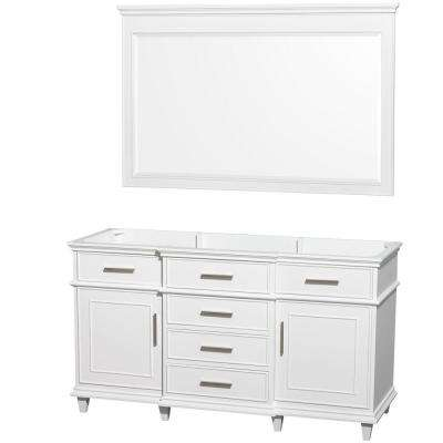 Berkeley 60 in. Vanity Cabinet with Mirror in White