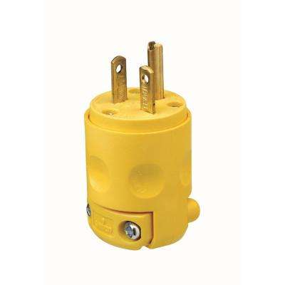 20 Amp 250-Volt Grounding Plug, Yellow