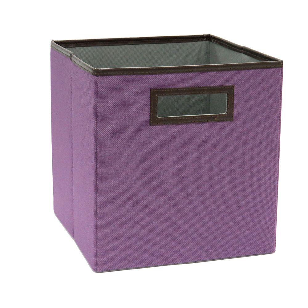 10.5 in. x 11 in. Fresh Lilac Linen Fabric Drawer