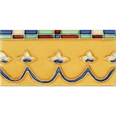 Hand-Painted Coronita Deco 3 in. x 6 in. Ceramic Wall Tile (1.25 sq. ft. / case)