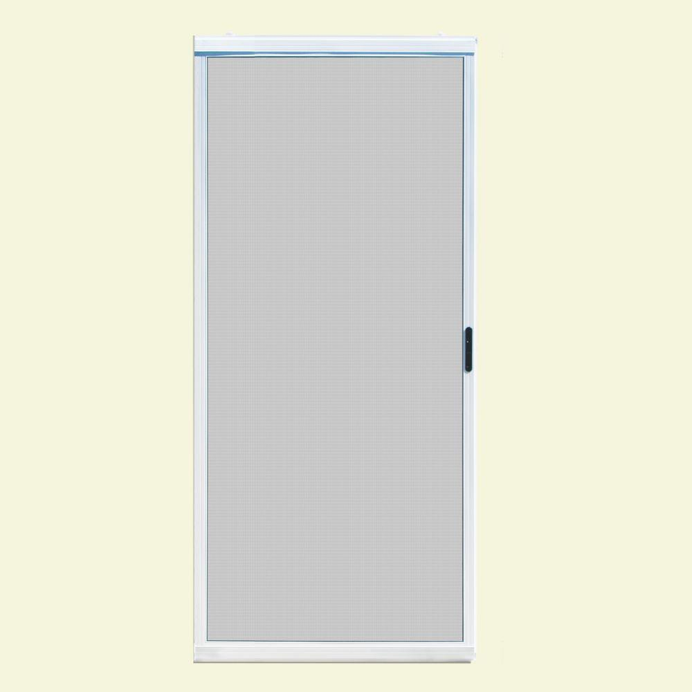 Gentil Unique Home Designs 36 In. X 80 In. Ultimate White Metal Sliding Patio Screen  Door ISPM300036WHT   The Home Depot