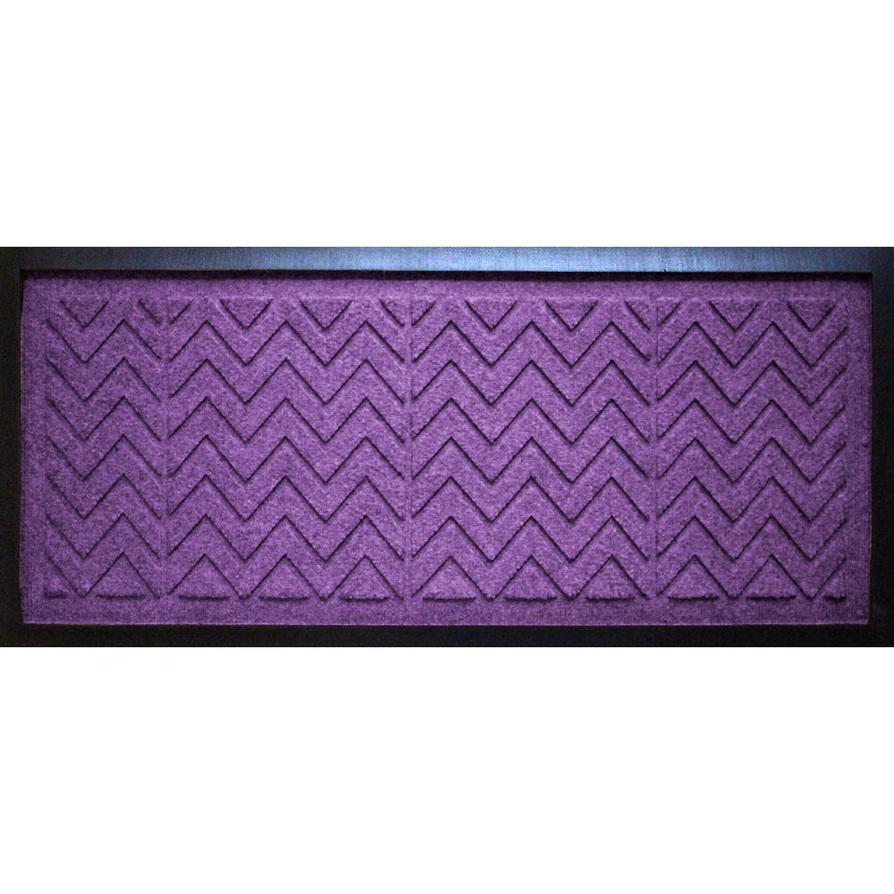 Purple 15 in. x 36 in. x 0.5 in. Chevron Boot Tray