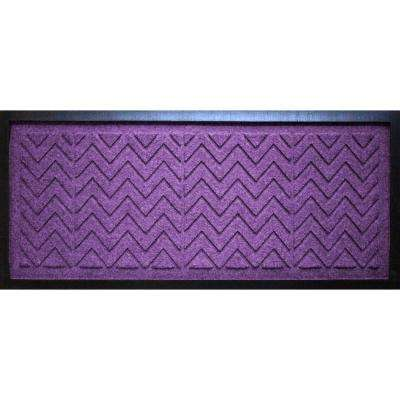Purple 15 in. x 36 in. x 0.5 in. Chevron Boot Tray