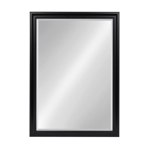 DesignOvation Dalat Rectangle Black Accent Mirror