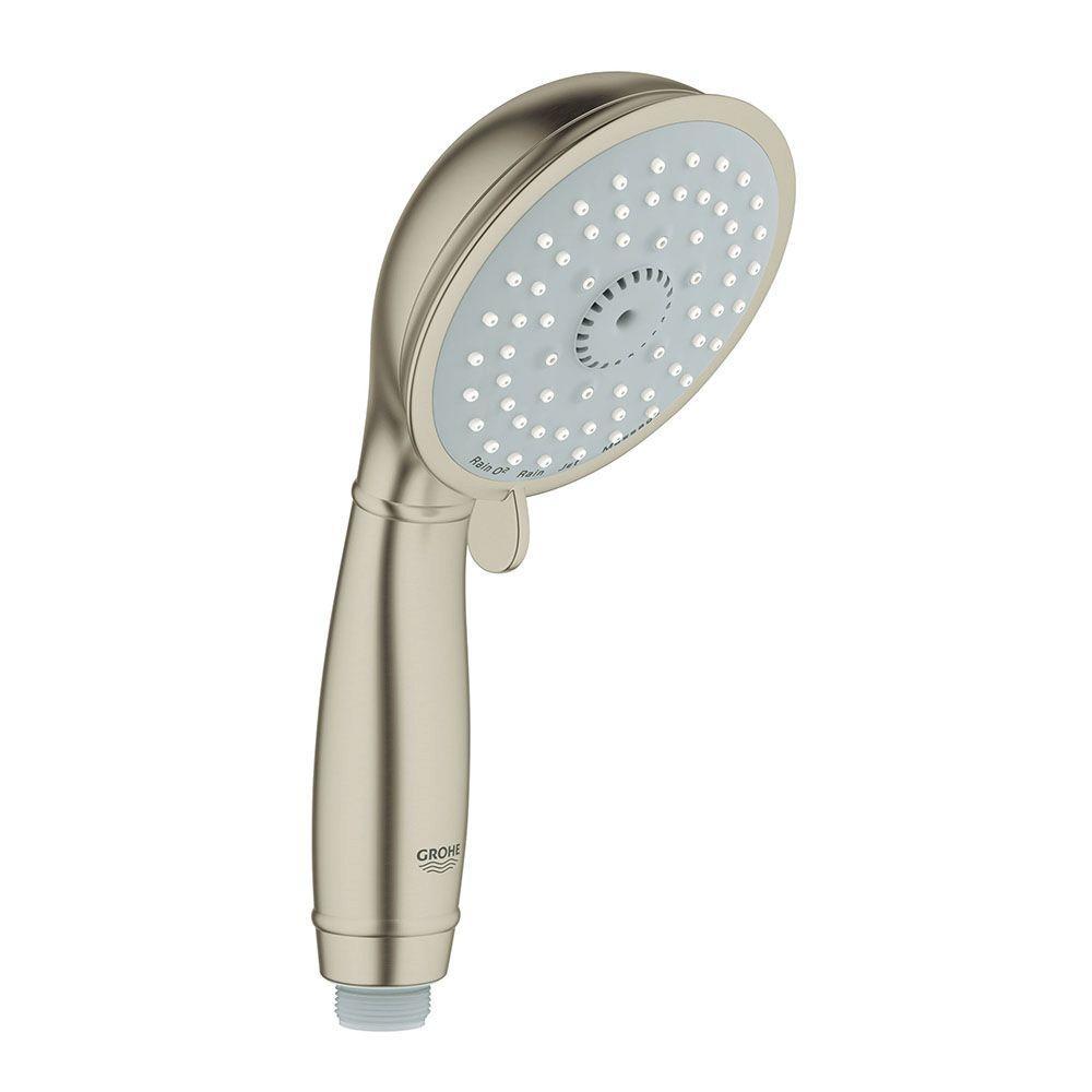 New Tempesta Rustic 100 4-Spray Handheld Shower in Brushed Nickel Infinity