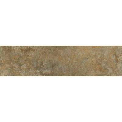 Milano Walnut 3 in. x 12 in. Glazed Porcelain Bullnose Floor and Wall Tile