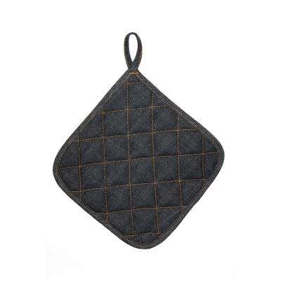 8 in. Vintage Draper Cotton Denim Indigo Potholder