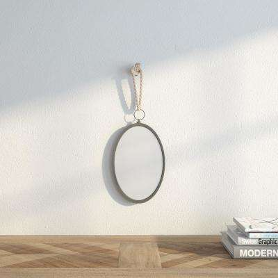 12 in. H x 7.5 in. W Oval Nautical Mirror