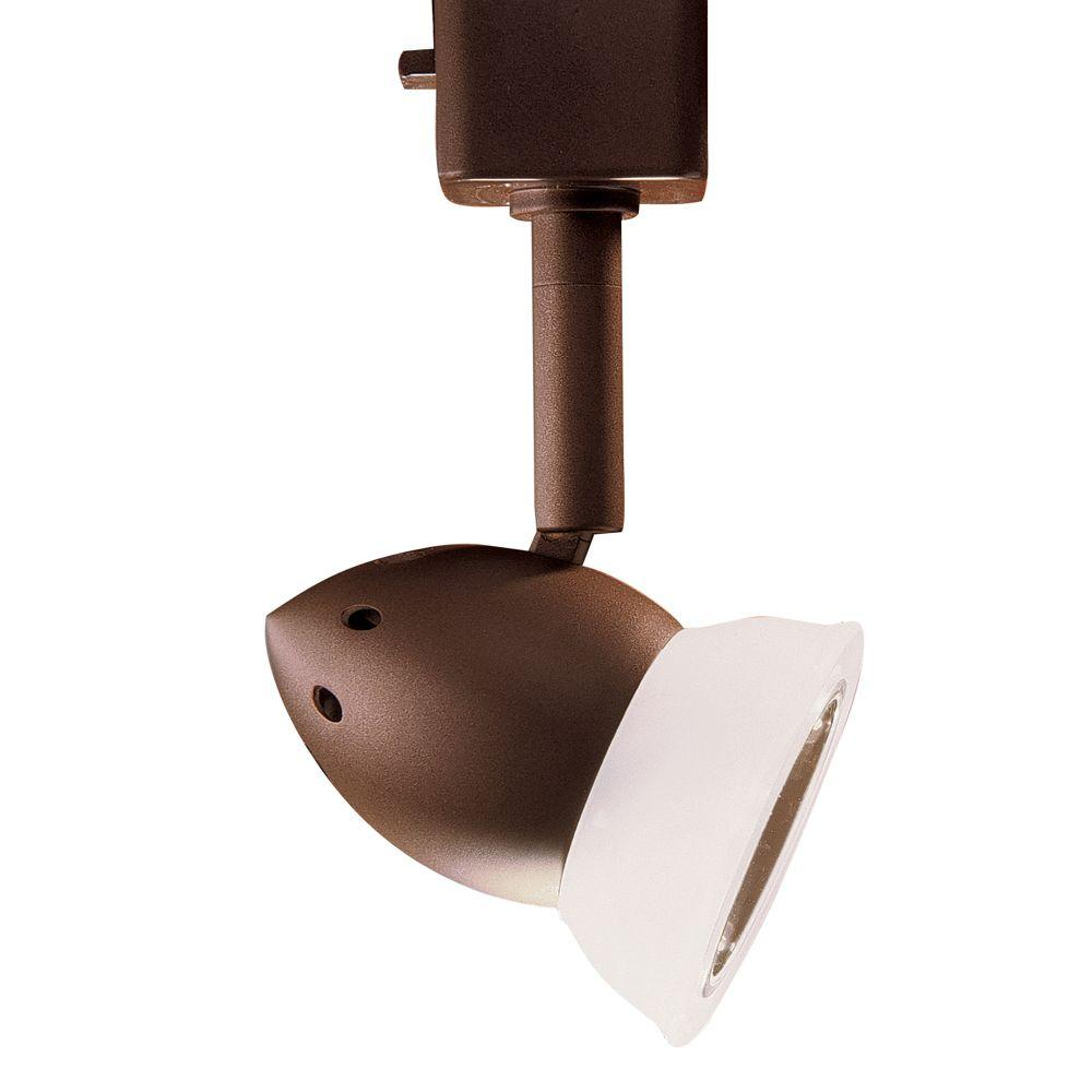 Series 3 Line-Voltage GU-10 Oil-Rubbed Bronze Track Lighting Fixture with Faux