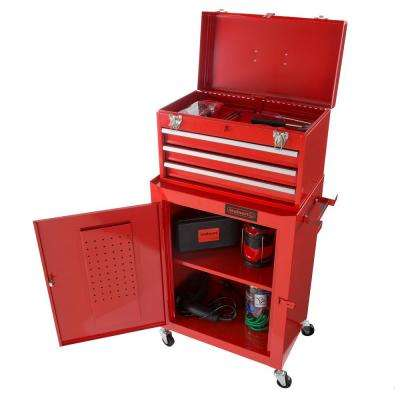 11.5 in. 3-Drawer Tool Chest and Cabinet Combo in Red
