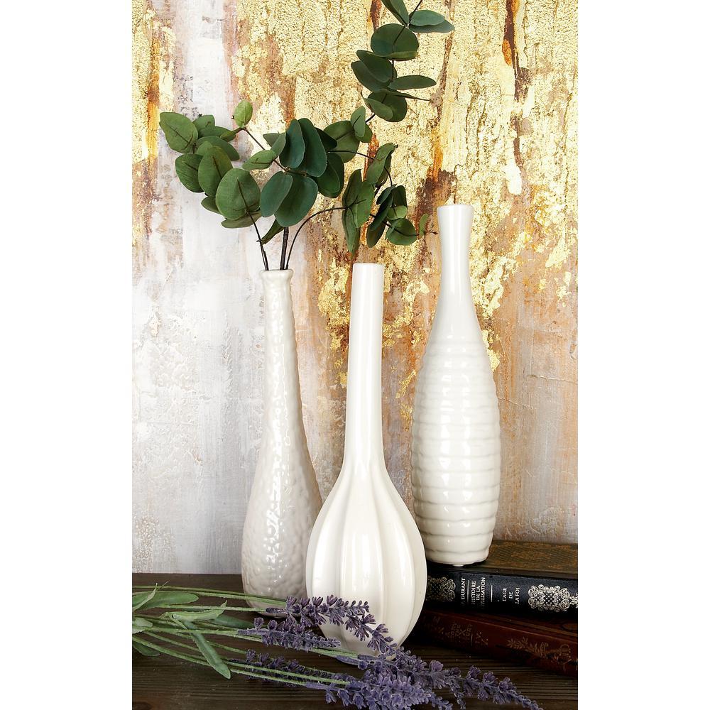12 in modern white ceramic decorative vases set of 3 92562 modern white ceramic decorative vases set of 3 reviewsmspy