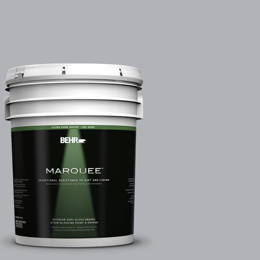 BEHR MARQUEE 5-gal. #770E-3 Pewter Mug Semi-Gloss Enamel Exterior Paint
