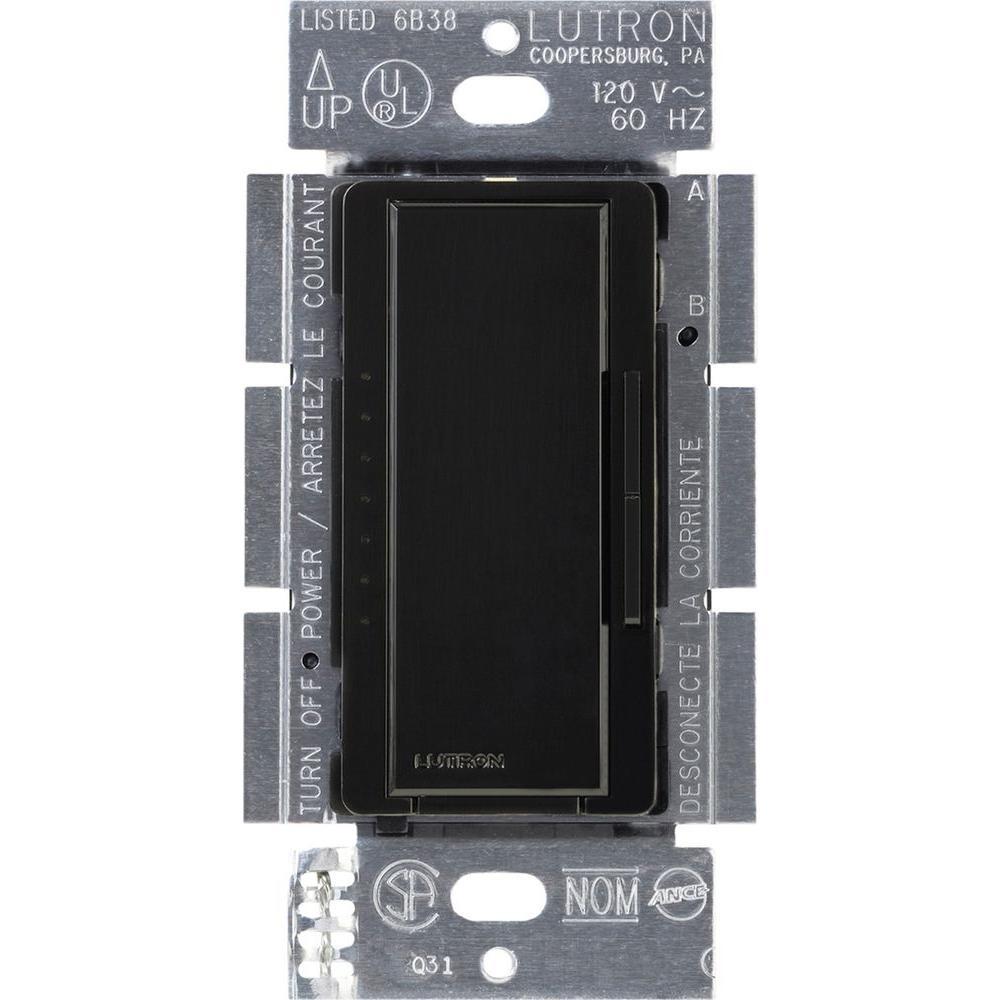 Lutron Maestro 150-Watt Single-Pole/3-Way/Multi-Location Digital CFL-LED Dimmer - Black