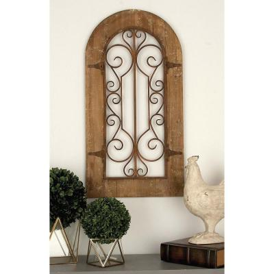 20 in. x 38 in. Brown Wood Wall Panel