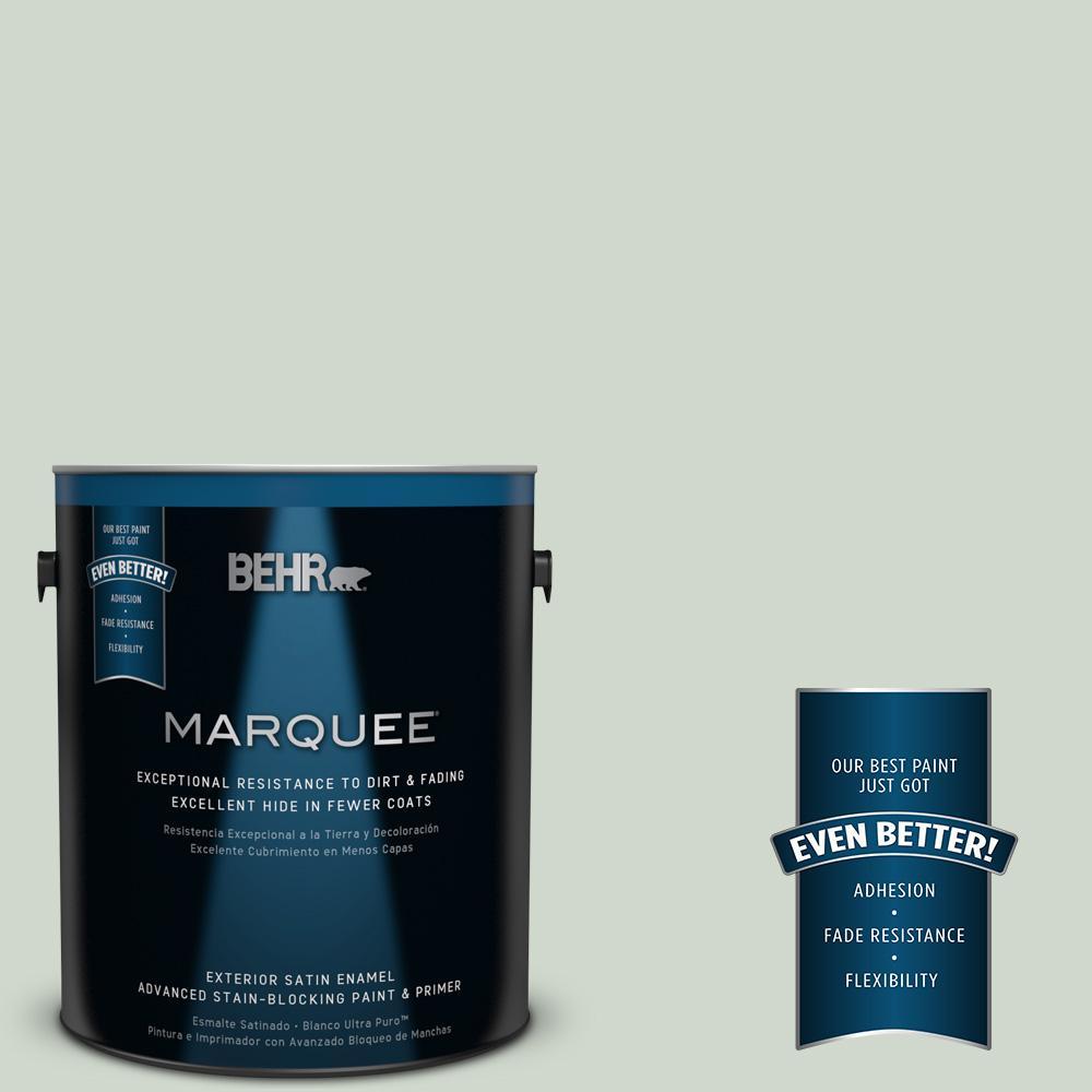 BEHR MARQUEE 1-gal. #ICC-48 Aspen Mist Satin Enamel Exterior Paint