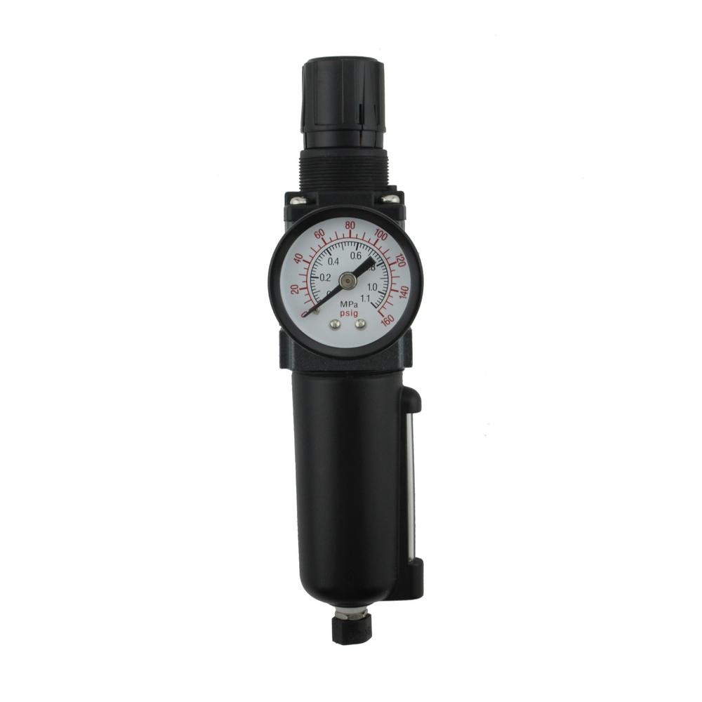 1 4 In Npt Mini Metal Frl Air Filter Regulator Ex25pb40a