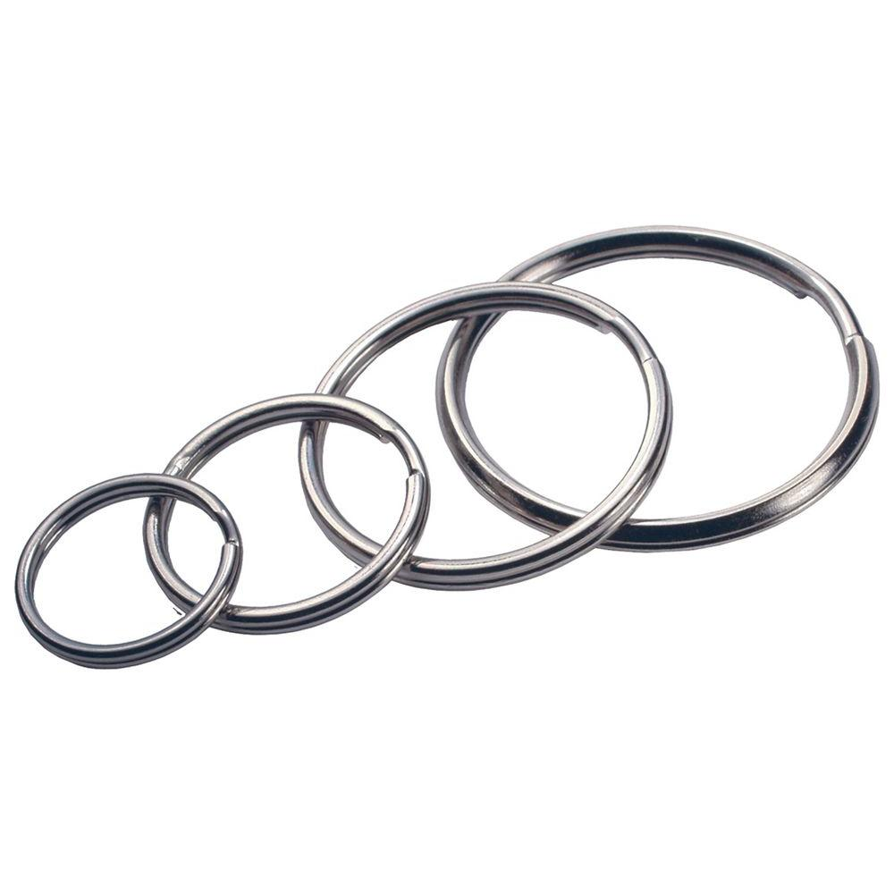 e58663b0e0 Hillman Split-Ring Key Ring (4-Pack)-701288 - The Home Depot