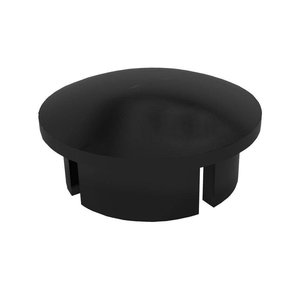 1/2 in. Furniture Grade PVC Internal Dome Cap in Black (10-Pack)