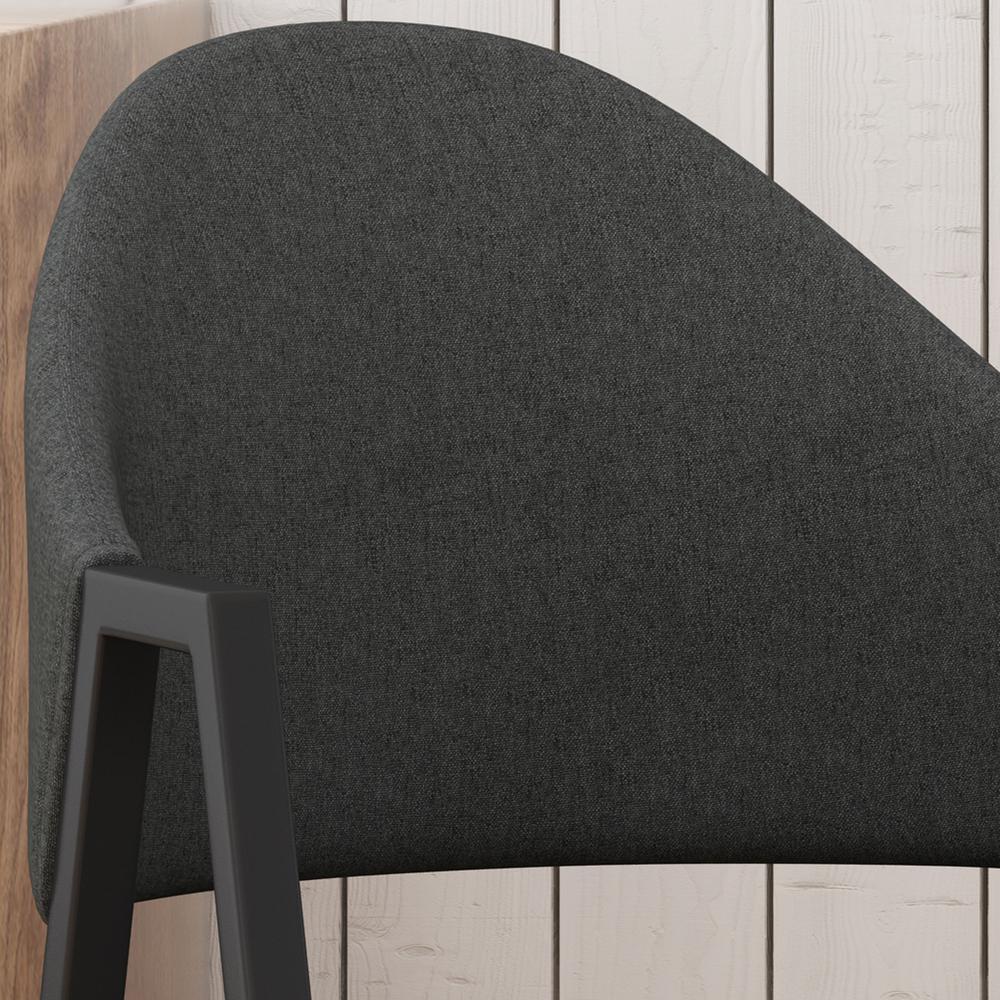 Surprising Noble House Elmhurst Mid Century Modern Dark Gray Fabric Dailytribune Chair Design For Home Dailytribuneorg