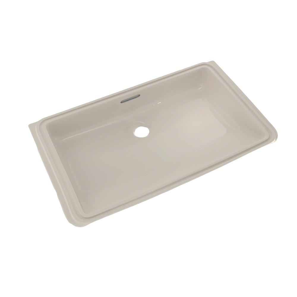 Toto 21 In Rectangular Undermount Bathroom Sink With Cefiontect In Sedona Beige Lt191g 12 The