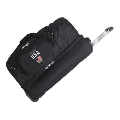 Olympics Team USA 27 in. Wheeled Duffel Bag in Black