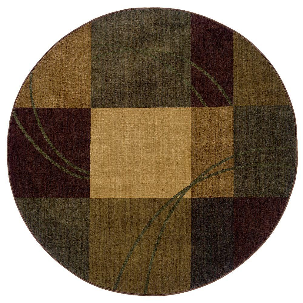null Eternity Nuance Blue / Brown 6 ft. Round Area Rug