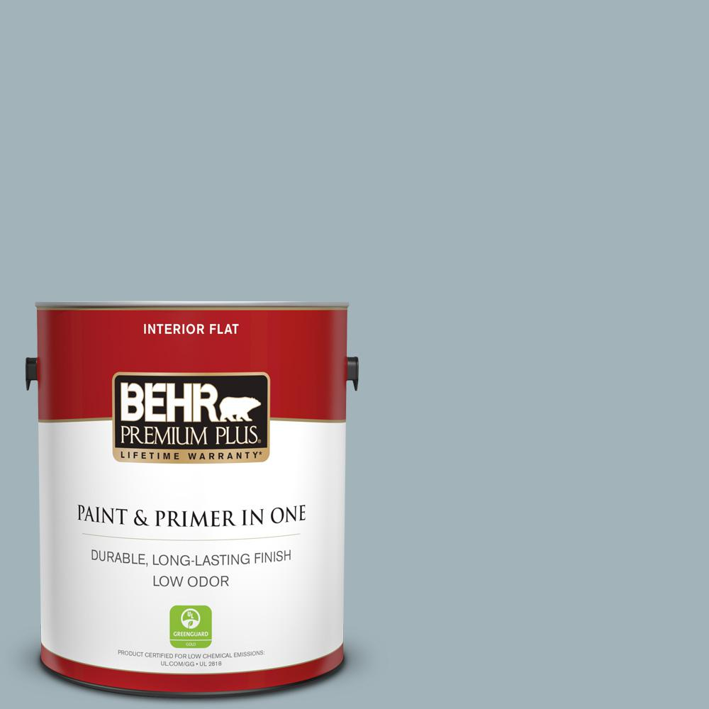 Behr Premium Plus 1 Gal Ppf 27 Porch Ceiling Flat Low Odor Interior Paint And Primer In One 140001 The Home Depot