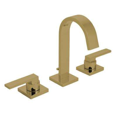 Lura 8 in. Widespread 2-Handle Bathroom Faucet with Pop-Up Drain Assembly in Brushed Bronze