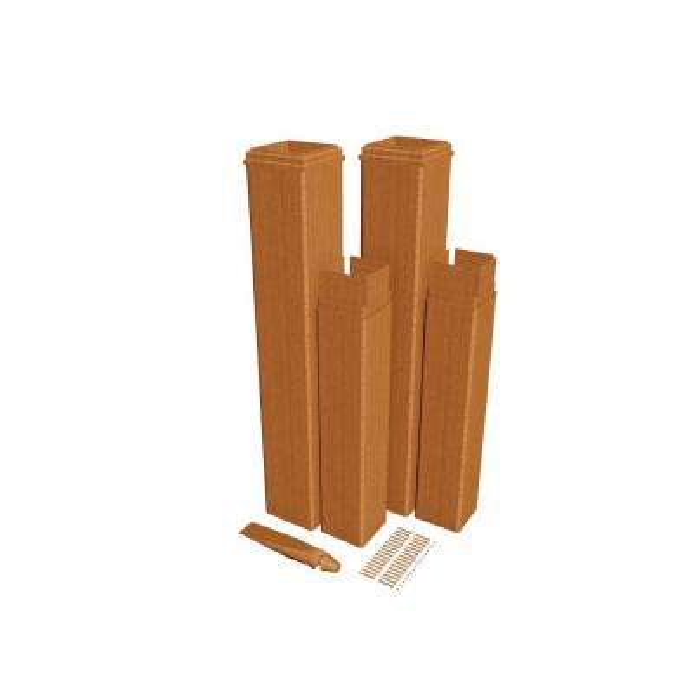 24 in. Cedar Composite Pergola Post Extension Kit (Pack of 2)