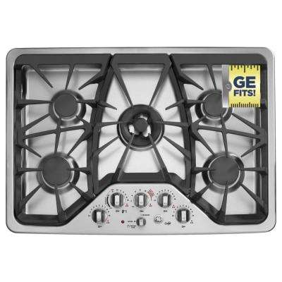 30 in. Gas Cooktop in Stainless Steel with 5 Burners including Tri-Ring Burner